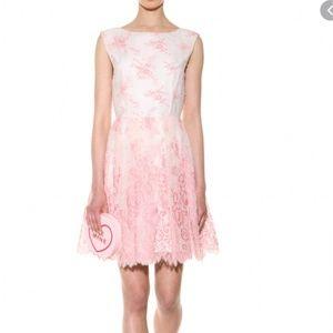 Alice + Olivia Fila Lace Floral Lace Dress Sz 8